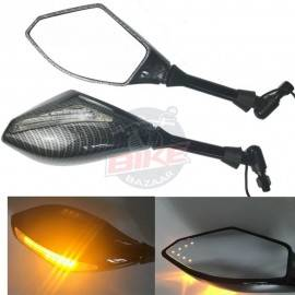 Universal Side Mirrors With Indicators Rear and Front High in Quality